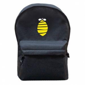 Plecak z przednią kieszenią Lemon stripes
