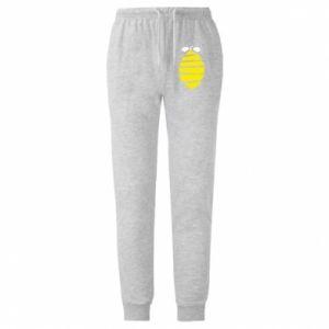 Spodnie lekkie męskie Lemon stripes