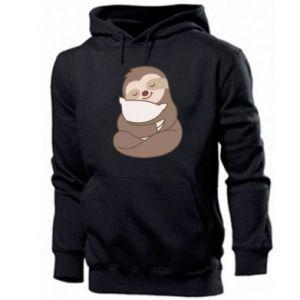 Męska bluza z kapturem Leniwiec z poduszką
