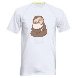 Męska koszulka sportowa Leniwiec z poduszką