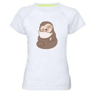 Koszulka sportowa damska Leniwiec z poduszką