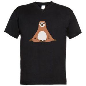 Męska koszulka V-neck Leniwiec jog