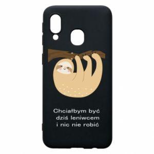Samsung A40 Case Sloth