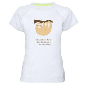 Women's sports t-shirt Sloth