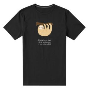 Męska premium koszulka Lenistwo