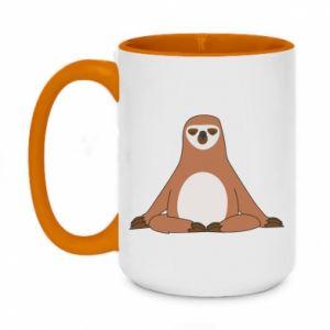 Two-toned mug 450ml Sloth