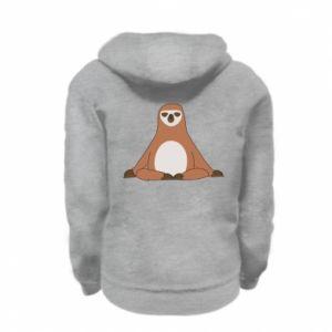 Kid's zipped hoodie % print% Sloth