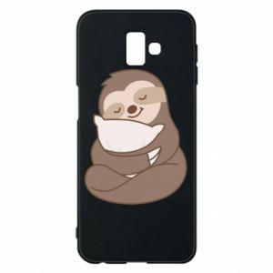 Etui na Samsung J6 Plus 2018 Leniwiec z poduszką