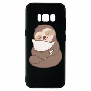 Etui na Samsung S8 Leniwiec z poduszką