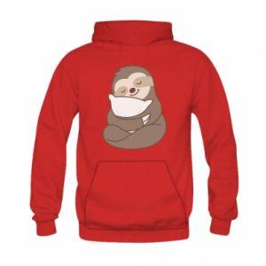 Bluza z kapturem dziecięca Leniwiec z poduszką