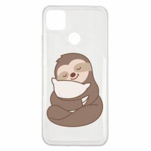 Etui na Xiaomi Redmi 9c Leniwiec z poduszką