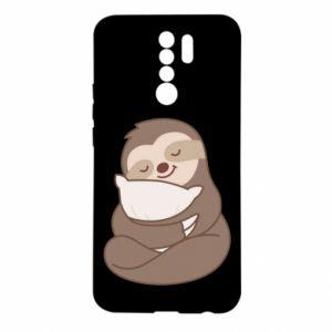 Etui na Xiaomi Redmi 9 Leniwiec z poduszką
