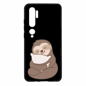 Etui na Xiaomi Mi Note 10 Leniwiec z poduszką