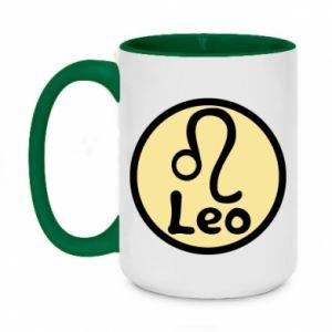 Two-toned mug 450ml Leo