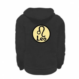 Kid's zipped hoodie % print% Leo