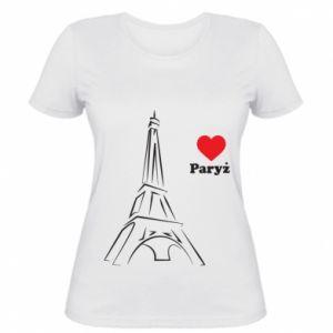 Damska koszulka Paryżu, kocham cię - PrintSalon