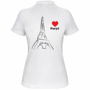 Damska koszulka polo Paryżu, kocham cię - PrintSalon