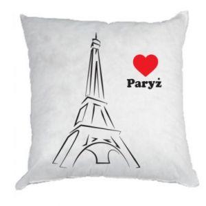 Poduszka Paryżu, kocham cię