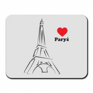 Podkładka pod mysz Paryżu, kocham cię