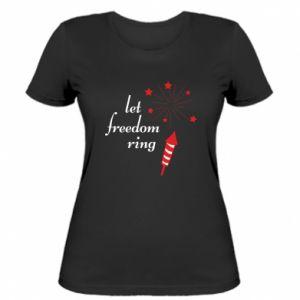 Koszulka damska Let freedom ring
