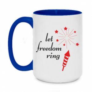 Kubek dwukolorowy 450ml Let freedom ring