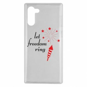Samsung Note 10 Case Let freedom ring