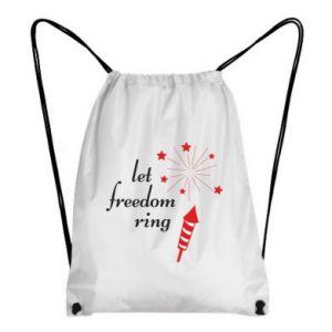 Backpack-bag Let freedom ring