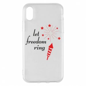 Etui na iPhone X/Xs Let freedom ring