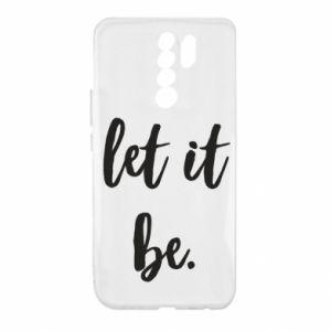 Etui na Xiaomi Redmi 9 Let it be