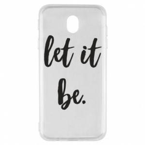 Etui na Samsung J7 2017 Let it be