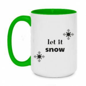 Two-toned mug 450ml Let it snow