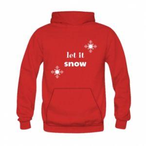 Bluza z kapturem dziecięca Let it snow