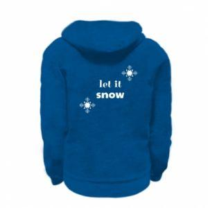 Bluza na zamek dziecięca Let it snow