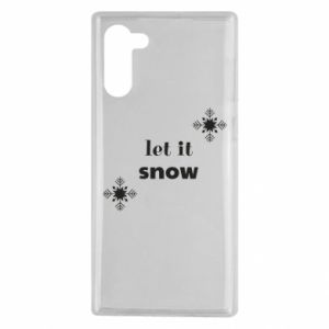 Etui na Samsung Note 10 Let it snow
