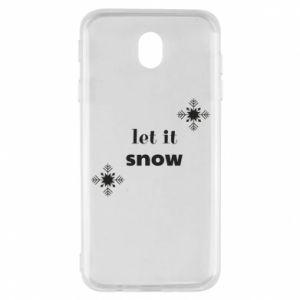 Etui na Samsung J7 2017 Let it snow