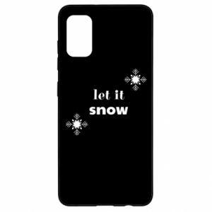 Etui na Samsung A41 Let it snow