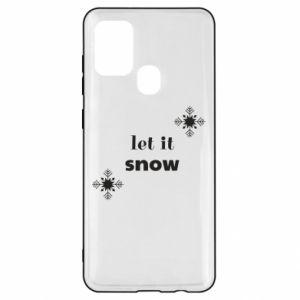 Etui na Samsung A21s Let it snow