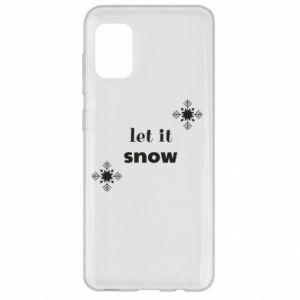 Etui na Samsung A31 Let it snow
