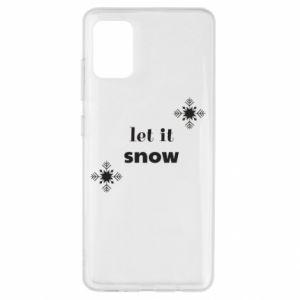 Etui na Samsung A51 Let it snow