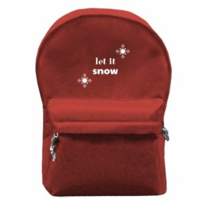 Backpack with front pocket Let it snow