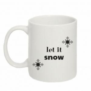 Mug 330ml Let it snow