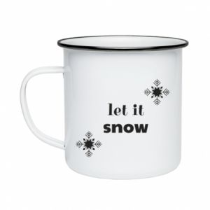 Enameled mug Let it snow