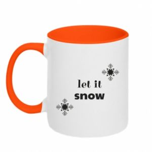 Two-toned mug Let it snow