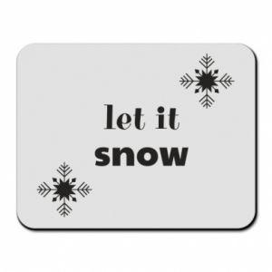 Mouse pad Let it snow