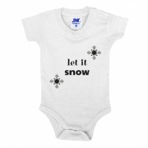 Baby bodysuit Let it snow