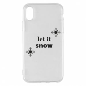 Phone case for iPhone X/Xs Let it snow