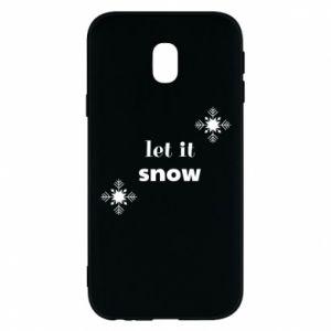 Phone case for Samsung J3 2017 Let it snow