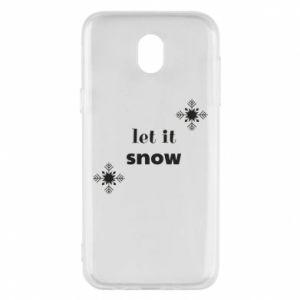 Phone case for Samsung J5 2017 Let it snow