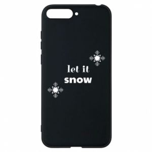Phone case for Huawei Y6 2018 Let it snow