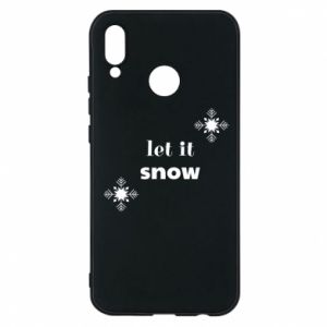 Phone case for Huawei P20 Lite Let it snow
